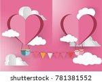 valentine's day concept.love...   Shutterstock .eps vector #781381552