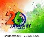 republic day  26 january . | Shutterstock .eps vector #781384228