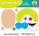 cut and glue to create image... | Shutterstock .eps vector #781389112