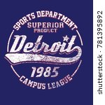 college sport club print design.... | Shutterstock .eps vector #781395892