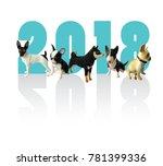 happy new year 2018. | Shutterstock . vector #781399336
