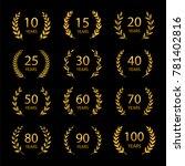 set of anniversary laurel...   Shutterstock .eps vector #781402816