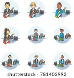 music  multicolor icon set | Shutterstock .eps vector #781403992
