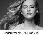 beautiful woman with blonde... | Shutterstock . vector #781405945