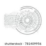 interface sci fi futuristic... | Shutterstock .eps vector #781409956