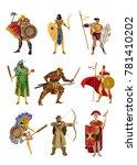 strong armored warriors... | Shutterstock .eps vector #781410202