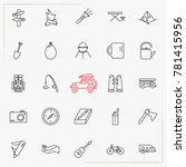camping line icons set | Shutterstock .eps vector #781415956