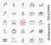 set of vector thin line icons... | Shutterstock .eps vector #781415995