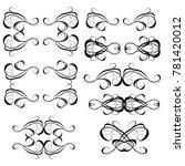 calligraphic design elements... | Shutterstock .eps vector #781420012