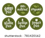 gluten  lactose  sugar  gmo... | Shutterstock .eps vector #781420162