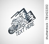 touring motorcycle club vector... | Shutterstock .eps vector #781422202