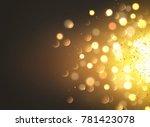gold dust vector bokeh light... | Shutterstock .eps vector #781423078