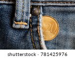 euro coin with a denomination... | Shutterstock . vector #781425976