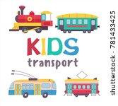 children's transport collection.... | Shutterstock .eps vector #781433425