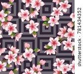 japanese cherry blossom flower... | Shutterstock .eps vector #781434352