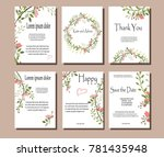 set of botanical vector cards.... | Shutterstock .eps vector #781435948