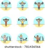 sports  multicolor icon set | Shutterstock .eps vector #781436566