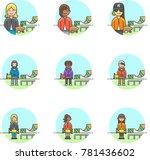 sports  multicolor icon set | Shutterstock .eps vector #781436602