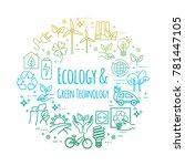 eco lifestyle  zero waste... | Shutterstock .eps vector #781447105