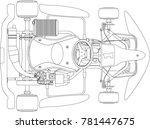 karting. go kart outline   Shutterstock .eps vector #781447675