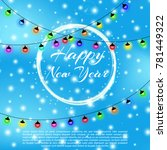 happy new year 2018 background... | Shutterstock .eps vector #781449322