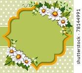 white margarites on green  ... | Shutterstock .eps vector #78144991