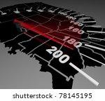 a speedometer on a u.s.a. map ... | Shutterstock . vector #78145195