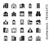 buildings glyph icons 2 | Shutterstock .eps vector #781461472