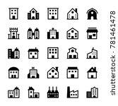 buildings glyph icons 1 | Shutterstock .eps vector #781461478