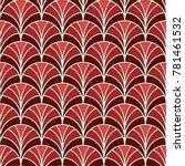 fish scale wallpaper. asian... | Shutterstock .eps vector #781461532