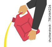 red canister with gasoline or... | Shutterstock .eps vector #781464226