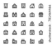 buildings outline icons 1 | Shutterstock .eps vector #781464466