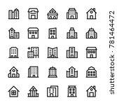 buildings stoke icons 3 | Shutterstock .eps vector #781464472