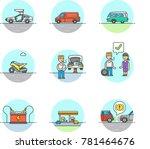 transportation road  multicolor ... | Shutterstock .eps vector #781464676