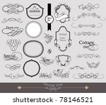 calligraphy elements set | Shutterstock .eps vector #78146521
