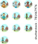 ecology  multicolor icon set | Shutterstock .eps vector #781467976