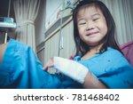 illness asian child smiling... | Shutterstock . vector #781468402
