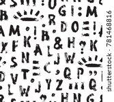 vector grunge alphabet seamless ...   Shutterstock .eps vector #781468816