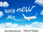 happy new year concept. drawing ... | Shutterstock . vector #781475062