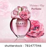 women perfume bottle delicate... | Shutterstock .eps vector #781477546