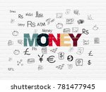 money concept  painted... | Shutterstock . vector #781477945