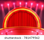 podium in the background with... | Shutterstock .eps vector #781479562