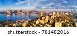 sydney harbour with harbour... | Shutterstock . vector #781482016