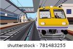 indian railway in the platform | Shutterstock .eps vector #781483255