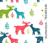 vector seamless pattern with... | Shutterstock .eps vector #781485148