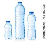 set water plastic bottles...   Shutterstock . vector #781487668
