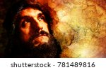handsome warrior thinking about ... | Shutterstock . vector #781489816