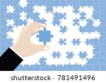the businessman is holding a... | Shutterstock .eps vector #781491496