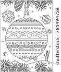 winter holidays coloring page... | Shutterstock . vector #781494736