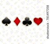 set of symbols deck of cards... | Shutterstock .eps vector #781497358